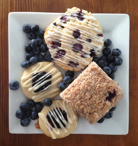 Can you tell it's blueberry season in the Catskills? A few treats from Under The Nose's kitchen. Photo courtesy of Under The Nose