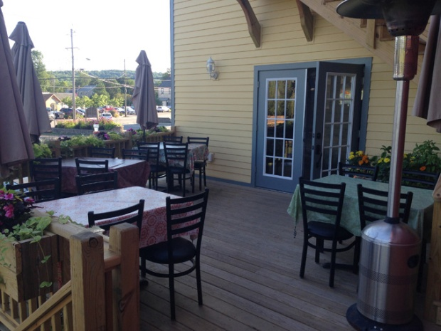 The outdoor dining space. Photo courtesy of Pickled Owl