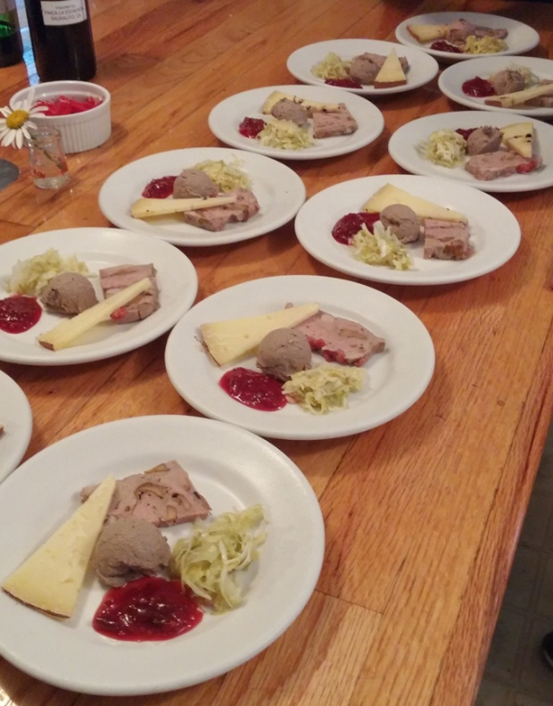 The duck charcuterie plate at a recent Heather Ridge Farm Supper Club dinner. Photo by Catskill Eats