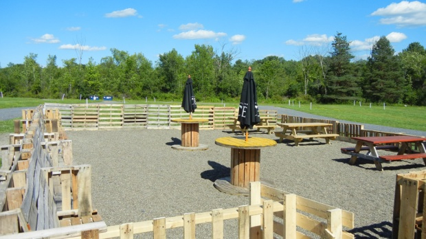 The beer garden will eventually host local breweries, wineries and sprits-makers. Photo by Catskill Eats