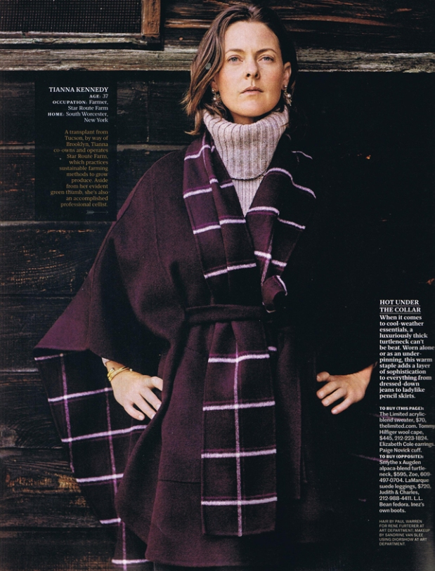 Star Route Farm's Tianna Kennedy, as shown in the October issue of Real Simple magazine.