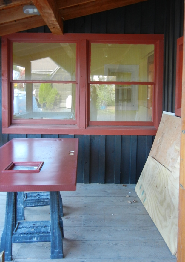 An ATM machine has been relocated to make room for a new ice cream counter on the front porch. Photo by Catskill Eats