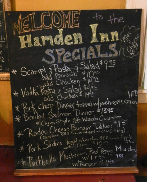 A recent menu. Photo by Catskill Eats