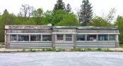 Ready and waiting: the restored former Crossroads Diner in Grand Gorge needs a new owner. Photo by Catskill Eats